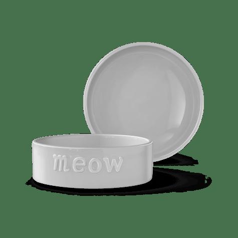 PetShop by Fringe Studio Sculpt Meow Gray Pet Bowl