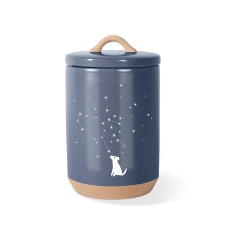 PetShop by Fringe Studio Celestial Dog Stoneware Pet Treat Jar