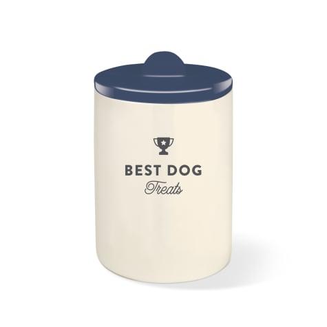 PetShop by Fringe Studio Best Dog Navy Pet Treat Jar