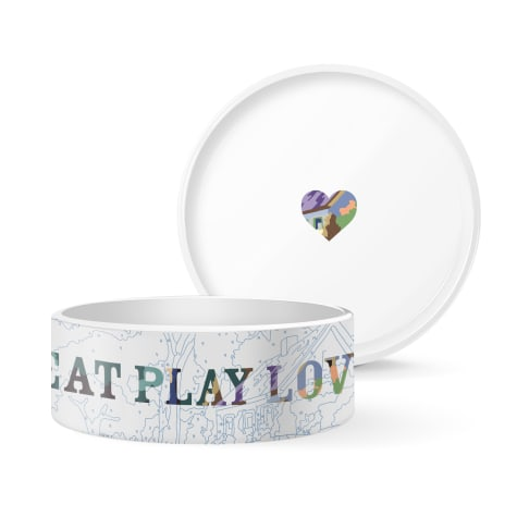 PetShop by Fringe Studio TSP Eat Play Love Ceramic Pet Bowl