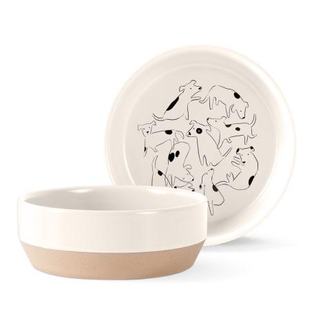 PetShop by Fringe Studio Nosey Dog Spot Stoneware Pet Bowl