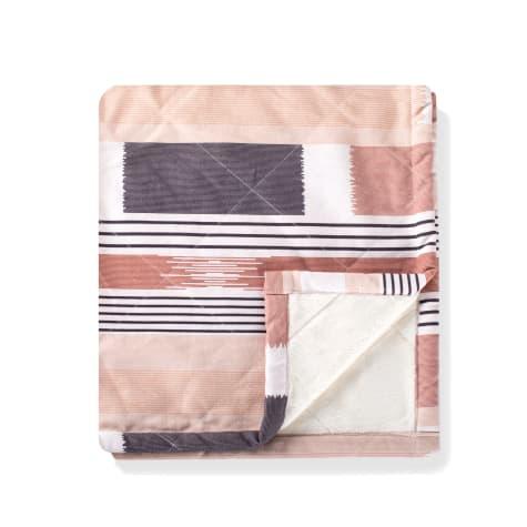 PetShop by Fringe Studio Textile Lines Canv with Fleece Blanket for Pets