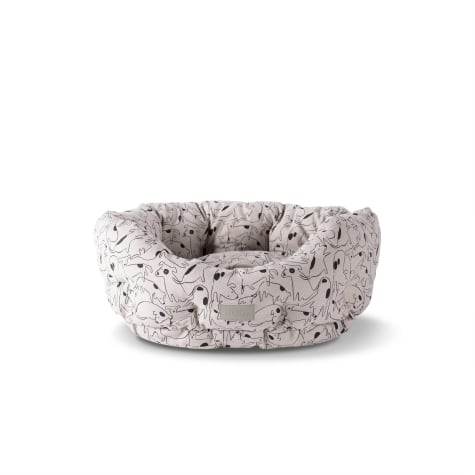 PetShop by Fringe Studio Nosey Dog Spot Round Pet Cuddler