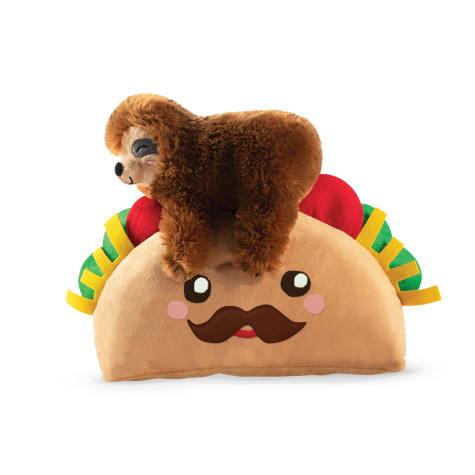 PetShop by Fringe Studio Taco Sloth Plush Dog Toy
