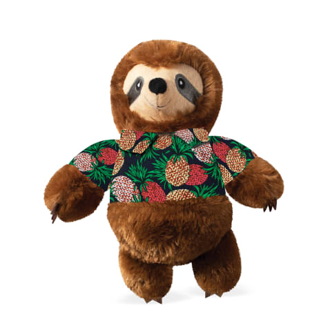 PetShop by Fringe Studio Vacay Vibes Sloth Plush Dog Toy