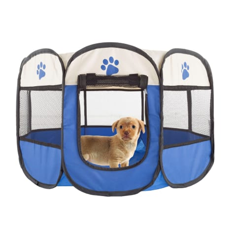 PETMAKER Pet Playpen with Carrying Case for Indoor/Outdoor Use