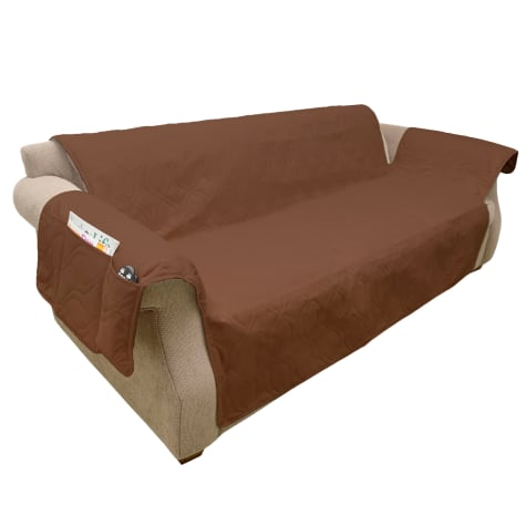 PETMAKER Pet Waterproof Brown Furniture Cover for Couch/Sofa