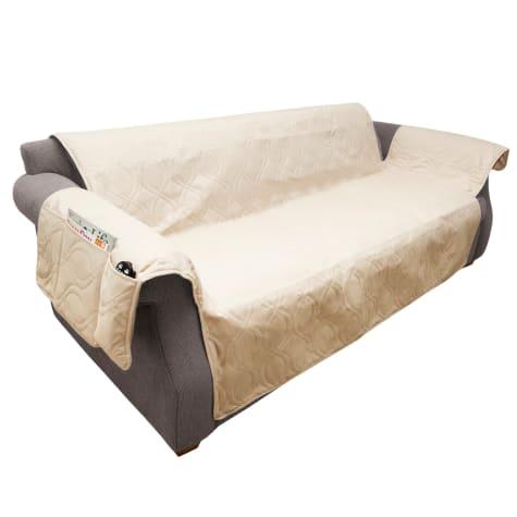 PETMAKER Pet Waterproof Tan Furniture Cover for Couch/Sofa