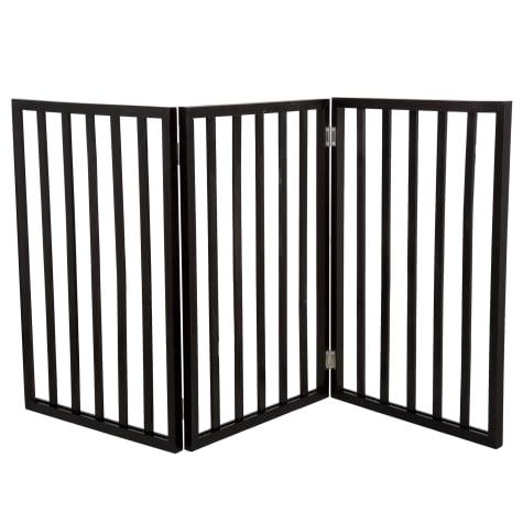 PETMAKER Freestanding Wooden Dark Brown Pet Gate