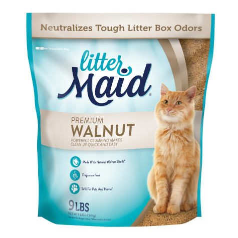 LitterMaid Premium Walnut Clumping Cat Litter