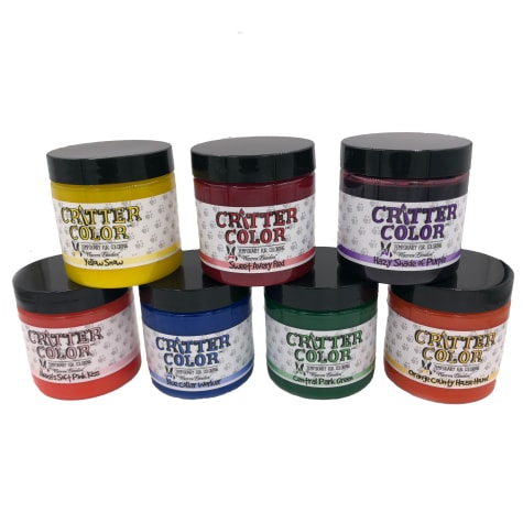 Warren London Critter 7 Colors with Tint Brush Temporary Fur Coloring for Dogs