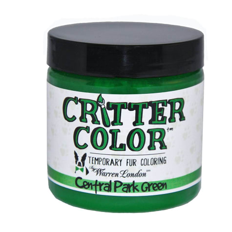 Warren London Critter Color Central Park Green Temporary Fur Coloring for Dogs