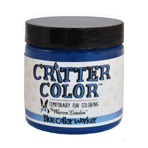 Warren London Critter Color Blue Collar Worker Temporary Fur Coloring for Dogs