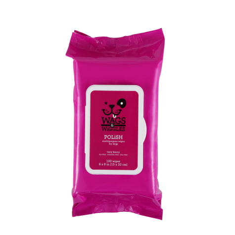 Wags & Wiggles Very Berry Polish Multipurpose Dog Wipes