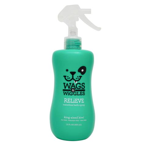 Wags & Wiggles Relieve Waterless Bath King Sized Kiwi Anti-Itch Dog Spray