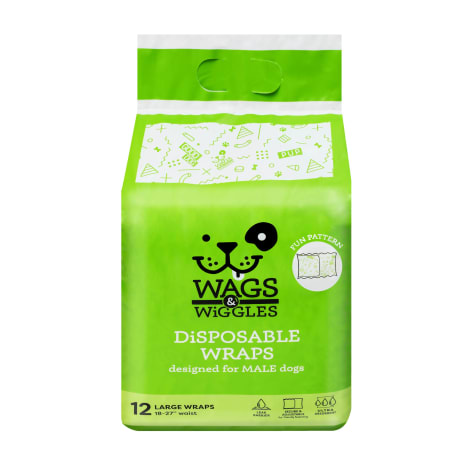 Wags & Wiggles Large Disposable Wraps for Male Dogs