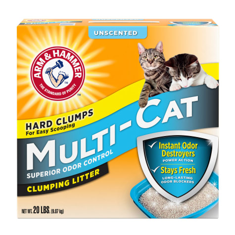 Arm & Hammer Unscented Multi-Cat Clumping Litter