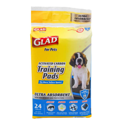 GLAD for Pets Large Activated Carbon Ultra Absorbent Dog Training Pads