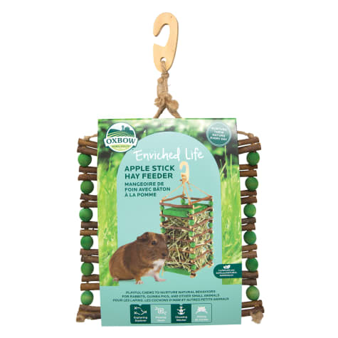 Oxbow Enriched Life Apple Stick Rabbit Hay Feeder