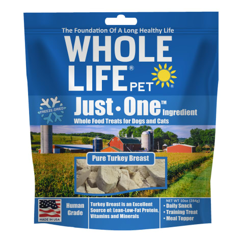 Whole Life Freeze Dried Pure Turkey Breast Whole Food Dog & Cat Treats