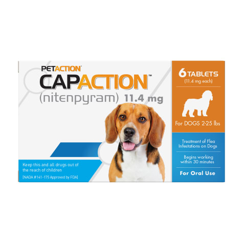 CapAction Fast Acting Oral Flea Treatment for Small Dogs