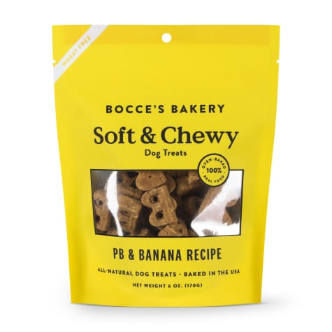 Bocce's Bakery Basic Peanut Butter Banana Soft & Chewy Dog Treats