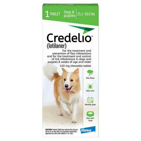 Credelio Chewable Tablet For Dogs 25.1-50 lbs.