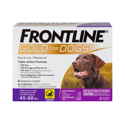 FRONTLINE Gold Flea & Tick Treatment for Large Dogs Up to 45 to 88 lbs.
