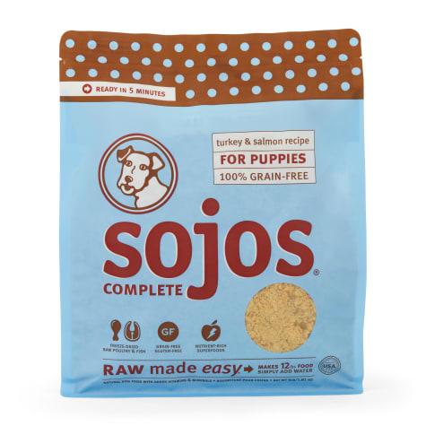 Sojos Complete Grain & Gluten Free Puppy Turkey & Salmon Recipe Freeze Dried Raw Dog Food