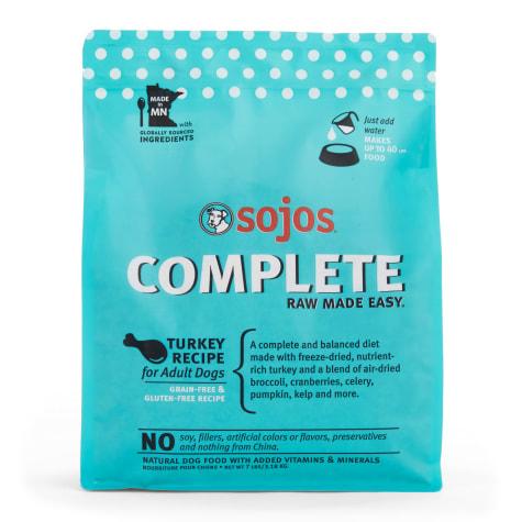 Sojos Complete Adult Grain-Free Turkey Recipe Freeze-Dried Raw Dog Food