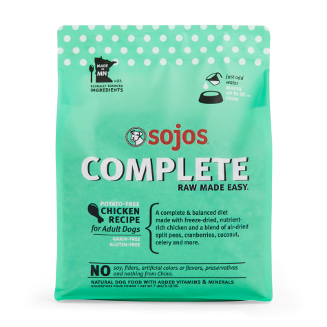 Sojos Complete Adult Grain-Free Chicken Recipe Freeze-Dried Raw Dog Food