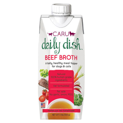 CARU Daily Dish Beef Broth Meal Topper for Cats & Dogs