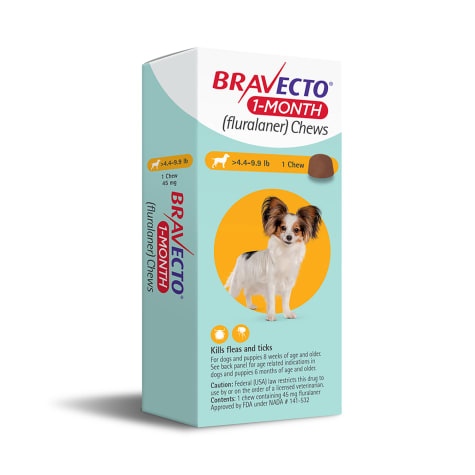 Bravecto 1-Month Chews for Dogs 4.4-9.9lbs