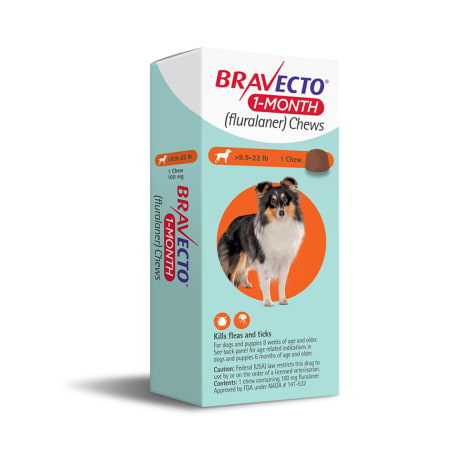 Bravecto 1-Month Chews for Dogs 9.9-22lbs