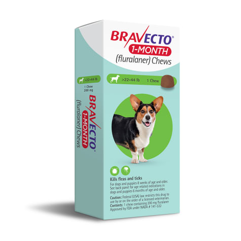Bravecto 1-Month Chews for Dogs 22-44lbs