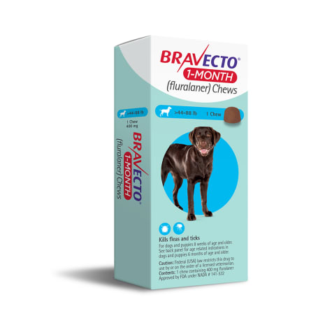 Bravecto 1-Month Chews for Dogs 44-88lbs