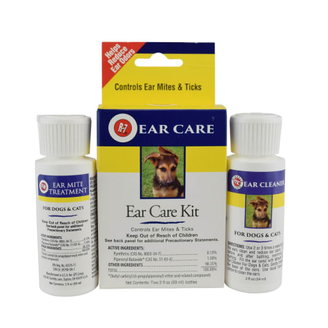 Miracle Care R-7 Ear Mite Treatment Kit for Dogs & Cats