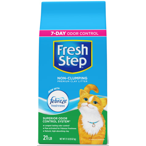 Fresh Step Non-Clumping Premium Scented Cat Litter with Febreze Freshness