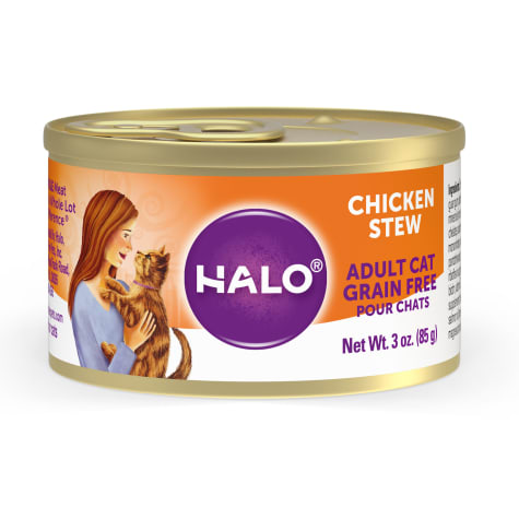 Halo Spot's Stew Grain Free Chicken Recipe Canned Cat Food