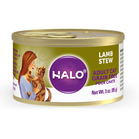 Halo Spot's Stew Grain Free Lamb Recipe Canned Cat Food
