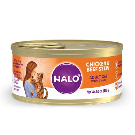 Halo Spot's Stew Grain Free Chicken & Beef Recipe Canned Cat Food
