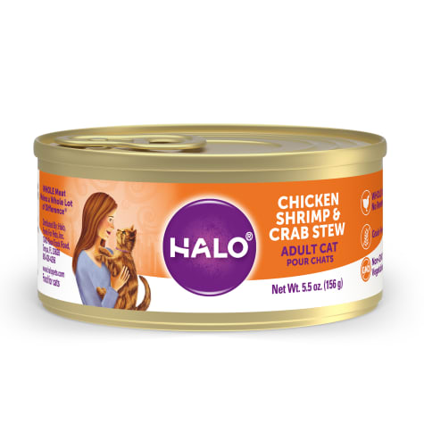 Halo Spot's Stew Grain Free Adult Chicken, Shrimp & Crab Recipe Canned Cat Food