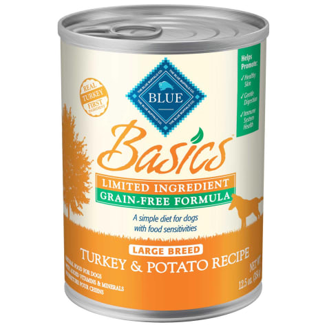 Blue Buffalo Blue Basics Lid & Grain Free Large Breed Turkey Canned Adult Dog Food
