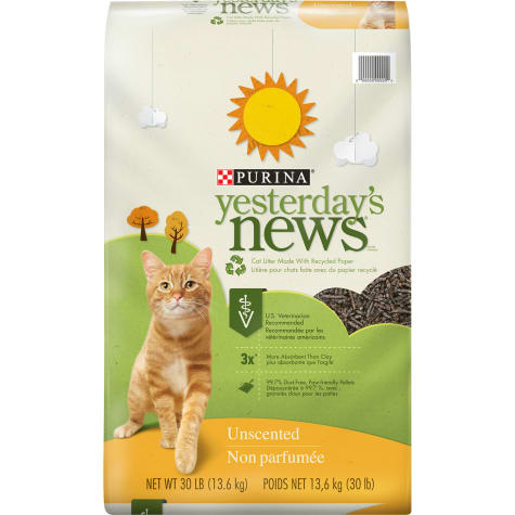 Purina Yesterday's News Paper Unscented Low Tracking Cat Litter