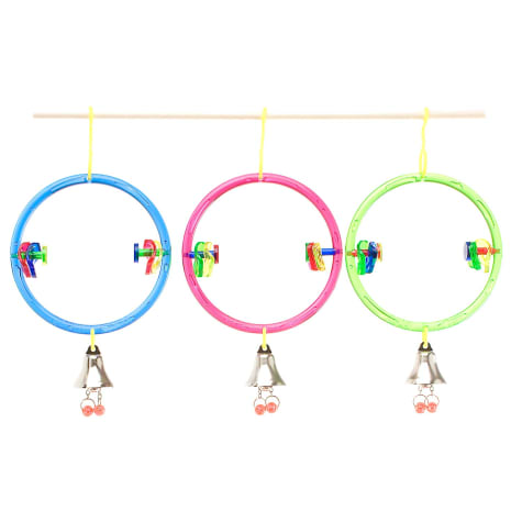 JW Pet Company Insight ActiviToys Ring Clear Bird Toys