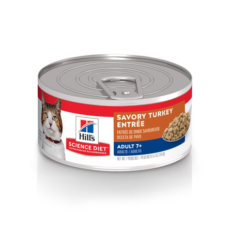 Hill's Science Diet Senior 7+ Savory Turkey Entree Canned Wet Cat Food
