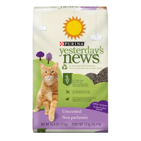 Purina Yesterday's News Paper Unscented Softer Texture Low Tracking Cat Litter