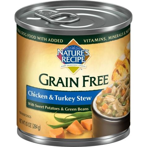 Nature's Recipe Grain Free Chicken & Turkey Stew Canned Dog Food