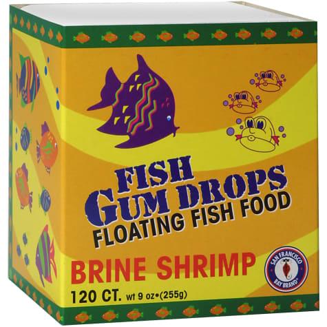 San Francisco Bay Brand Frozen Gumdrops Floating Fish Food Brine Shrimp