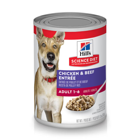 Hill's Science Diet Adult Chicken & Beef Entree Canned Dog Food